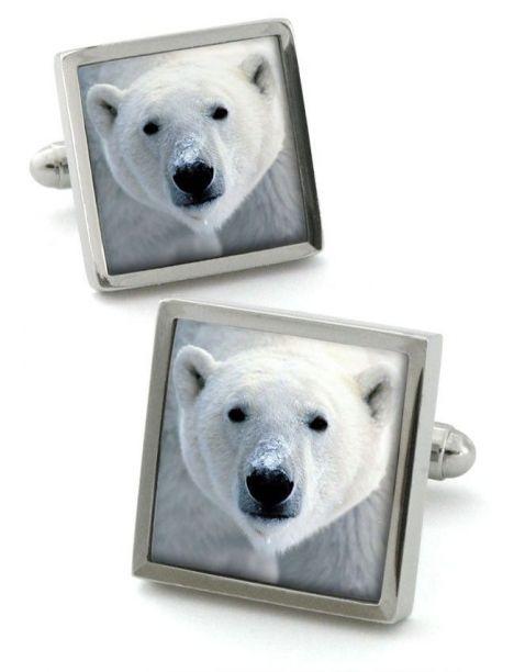 Bouton de manchette Robert Charles Polar Bear Robert Charles Bouton de manchette