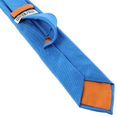 Cravate soie italienne, Bleu Cina