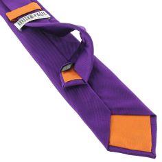 Cravate soie italienne, Mauve Mammola