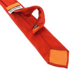 Cravate soie italienne, Rouge Geraneo