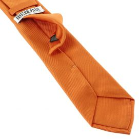 Cravate soie italienne, Orange Rame