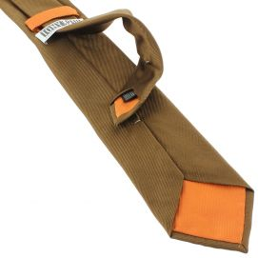 Cravate soie italienne, Tabacco