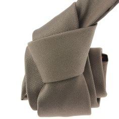 Cravate soie italienne, Taupe Tony & Paul Cravates
