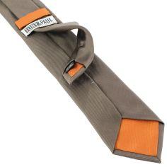 Cravate soie italienne, Taupe