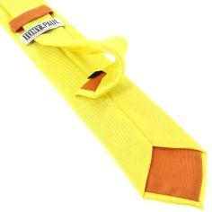 Cravate soie italienne, jaune Citron