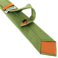 Cravate soie italienne, vert Mela