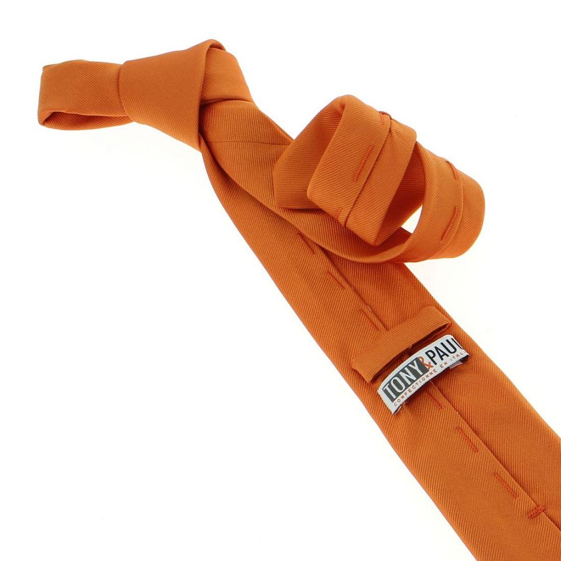 cravate luxe faite la main orange rame cravate. Black Bedroom Furniture Sets. Home Design Ideas