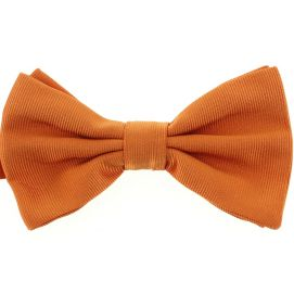 Noeud papillon soie italienne, Orange Rame