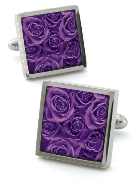 Boutons de manchette, Rose violet Robert Charles Bouton de manchette