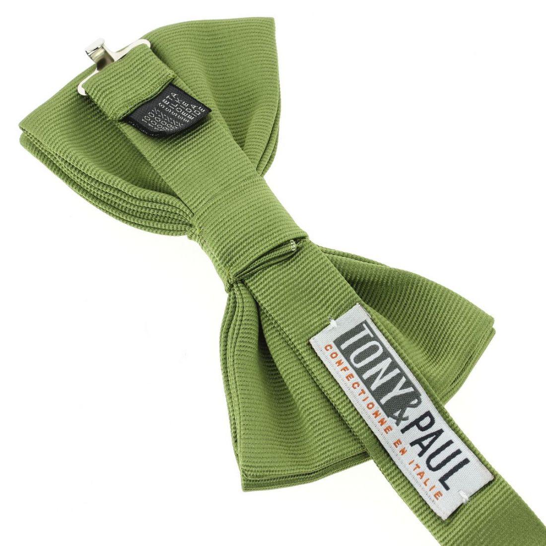noeud papillon soie italienne vert mela cravate. Black Bedroom Furniture Sets. Home Design Ideas
