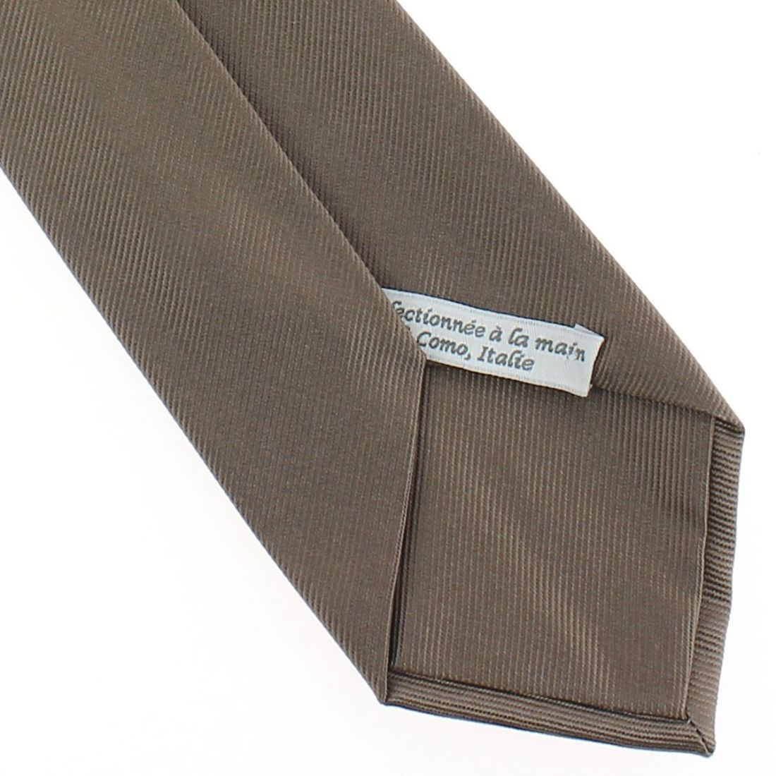 cravate luxe faite la main taupe cravate. Black Bedroom Furniture Sets. Home Design Ideas