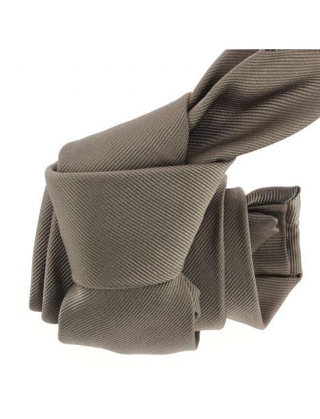 Cravate luxe faite à la main, Taupe Tony & Paul Cravates