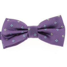 Noeud Papillon CLJ, violet, motifs fleurs