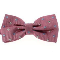 Noeud Papillon CLJ, rose, motifs fleurs