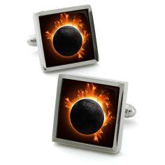 Bouton de manchette Robert Charles Sun Eclipse
