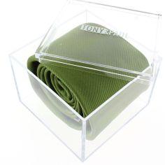Cravate luxe faite à la main, vert Mela