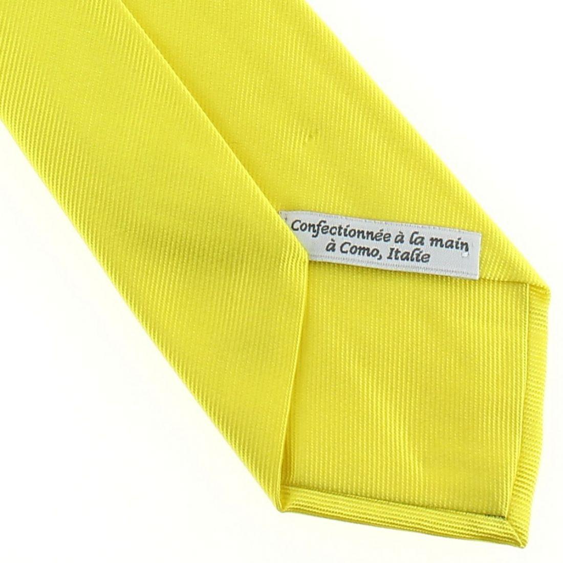 cravate luxe faite la main jaune citron cravate. Black Bedroom Furniture Sets. Home Design Ideas