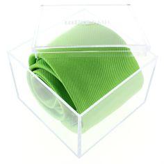 Cravate luxe faite à la main, Vert Cedro