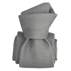 Cravate grenadine de soie, Segni & Disegni, Lucia grigio