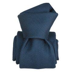 Cravate grenadine de soie, Segni & Disegni, Lucia Bleu