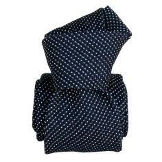 Cravate grenadine de soie, Segni & Disegni, Paris VI, Marine