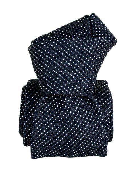 Cravate grenadine de soie, Segni & Disegni, Paris VI, Marine Segni et Disegni Cravates