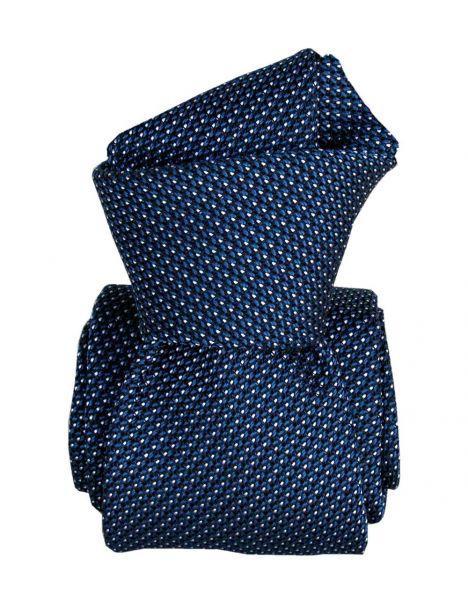 Cravate grenadine de soie, Segni & Disegni, Paris VI, Bleuet