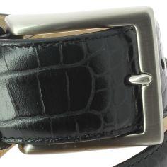 Ceinture cuir, Lézard, couleur noir