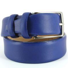 Ceinture cuir de veau, bleu, 35mm