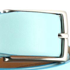 Ceinture cuir de veau, bleu glace, 35mm