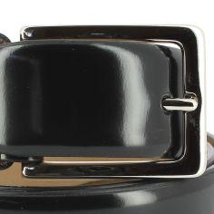 Ceinture cuir, Patent noir, 35mm