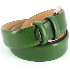 Ceinture cuir, vert, 35mm