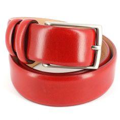Ceinture cuir, rouge, 35mm