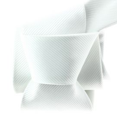 Cravate CLJ, Montelimar, Blanc pur