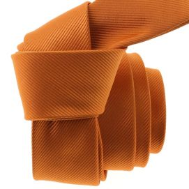 Cravate CLJ Slim 4cm, Piccadilly Orange de Murcia Clj Charles Le Jeune Cravates
