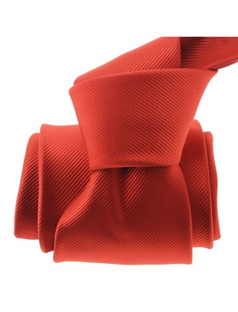 Cravate CLJ, Richelieu, Rouge Vermillon Clj Charles Le Jeune Cravates