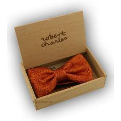 Noeud Papillon Robert Charles Rose orange