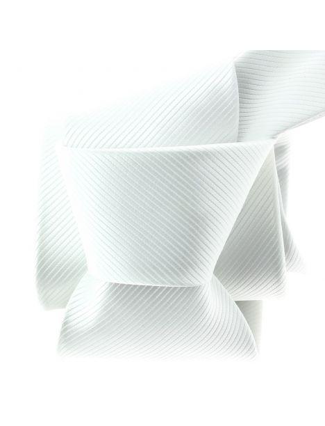 Cravate CLJ Slim 4cm, White, Blanche Clj Charles Le Jeune Cravates