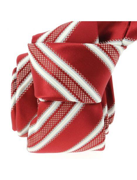 Cravate CLJ, Yacht rouge foncé Clj Charles Le Jeune Cravates