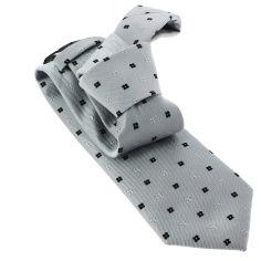 Cravate CLJ, gris, motifs fleurs