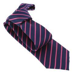 Cravate CLJ, XV navy et rose
