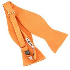 Nœud papillon à nouer en soie, Orange Rame, Fait à la main
