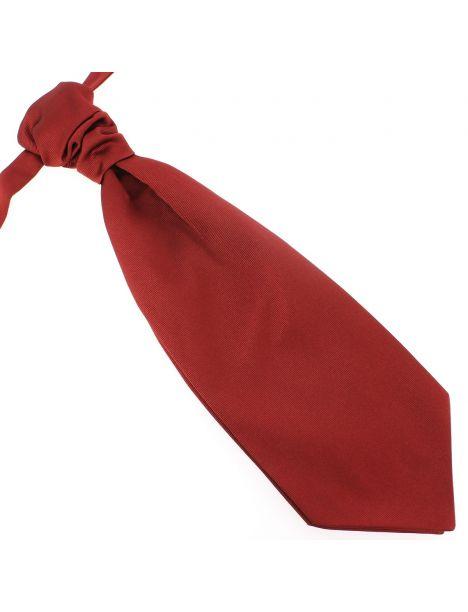 Lavallière nouée en soie, Rouge Peonia, Faite à la main Tony & Paul Cravates