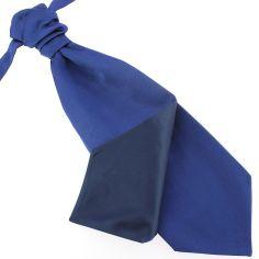 Lavallière nouée en soie, Bleu royal, Faite à la main