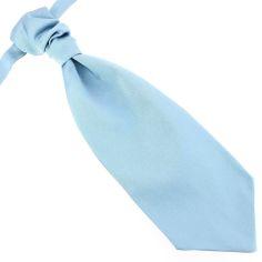 Lavallière nouée en soie, Tevere bleu, Faite à la main
