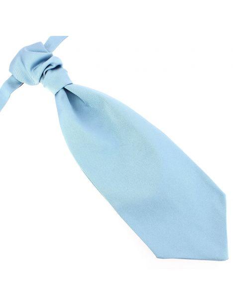 Lavallière nouée en soie, Tevere bleu, Faite à la main Tony & Paul Cravates