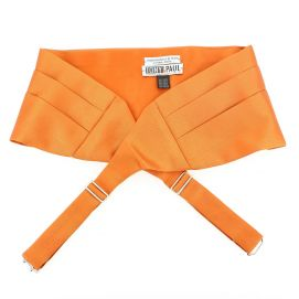 Ceinture Smoking en soie, Orange Rame,