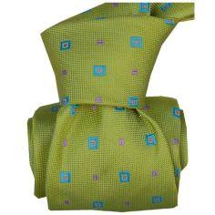 Cravate LUXE Segni Disegni 100% Faite main: volterra vert
