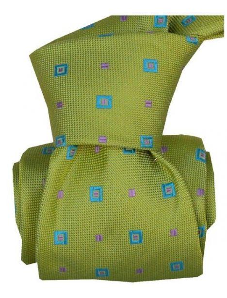 Cravate LUXE Segni Disegni 100% Faite main: volterra vert Segni et Disegni Cravates