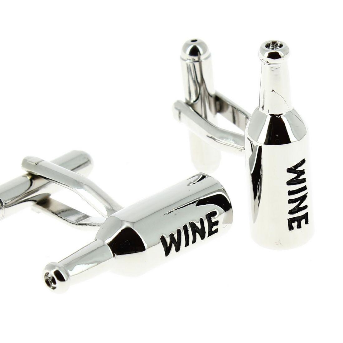 collection entière meilleures offres sur super mignon Boutons de manchette, Bouteilles de vin argent'